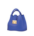 blue woman bag vector image vector image
