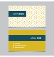 business card pattern yellow 02 vector image