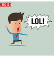 Businessman laughing out loud - - EPS10 vector image