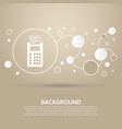 calculator icon on a brown background with vector image vector image