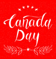 canada day design card vector image vector image