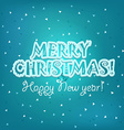 Christmas greeting card Merry Christmas and vector image vector image