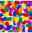 Christmas light seamless pattern vector image vector image