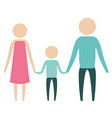 color silhouette pictogram parents with a boy vector image vector image