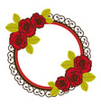 colorful floral circular frame with decorative vector image vector image