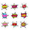 comic text speech bubble pop art set girl power vector image vector image