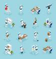 creative robots isometric icons vector image