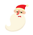 cute santa claus upset confused facial vector image