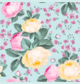 elegant seamless rose pattern on white background vector image vector image