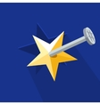 European Union star nailed vector image