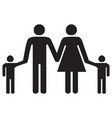 family parents and kids holding vector image