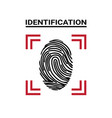 fingerprint scanning icon identification concept vector image