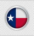 flag state texas usa on round button vector image vector image