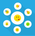 flat icon emoji set of have an good opinion tears vector image vector image