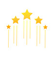 flying stars icon vector image