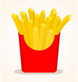 french fries in red box vector image