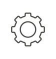 gear icon line symbol vector image vector image