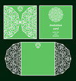 green invitation card vector image