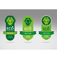 Green recycle label banners vector image