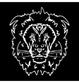 Hand-drawn pencil graphics lion Stencil style