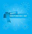 happy independent day template design vector image vector image
