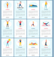 healthy people lifestyle fitness webpage vector image vector image