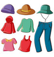 isolated set clothes vector image