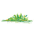 jungle plants green composition isolated vector image vector image