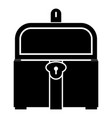 kist or trunk icon black color flat style simple vector image