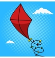 Kite in sky pop art style vector image vector image
