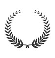 laurel wreath icon award for winning celebration vector image vector image