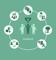 leadership concept leadership concept vector image vector image