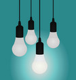 light bulb idea concept vector image vector image