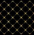 luxe gold black ornamental lattice pattern vector image