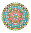 mandala doodle color vector image vector image