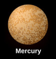 mercury planet icon realistic style vector image vector image