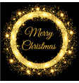 merry christmas glowing gold background vector image