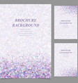 Modern abstract brochure template design vector image vector image