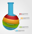 Modern infographic on science and medicine in the vector image vector image