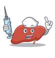 nurse liver character cartoon style vector image