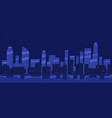 panorama night city flat vector image