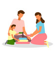 parents and baplay together while staying vector image