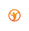 people healthy life logo template vector image