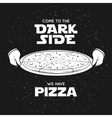 pizza related advertising poster come to dark vector image