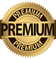 Premium golden label vector image