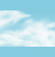 realistic background with summer clouds vector image