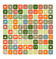 Set of 100 Universal Icons Simple Flat Style Busin vector image vector image