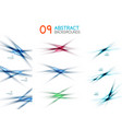 set of blurred overlapping and crossing lines vector image vector image