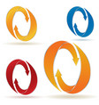 set of circular arrows with stripes vector image vector image