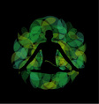 Silhouette of a meditating person vector image vector image